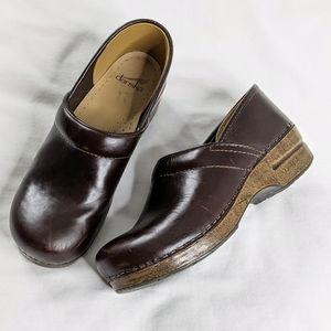 Dansko Professional Leather Clog Brown Cognac